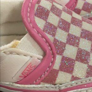 Vans Shoes - Vans Baby Girl Pink Checkered Crib Shoes 2